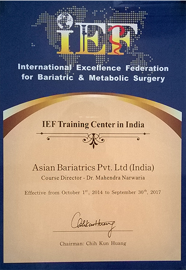 IEF Training Center in India from 2014 to 2017